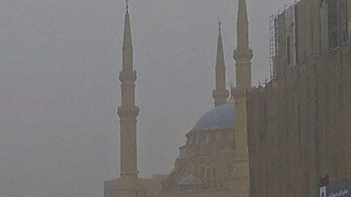 Tormenta de arena sobre Oriente Medio
