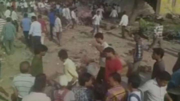 Al menos 82 muertos y 150 heridos en una explosión en la India