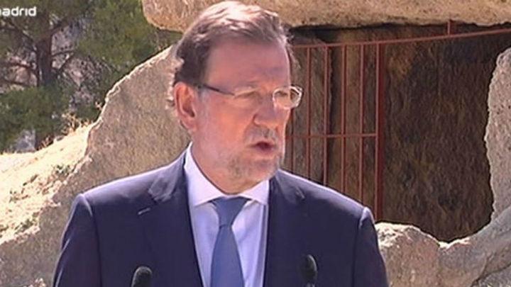 """Rajoy, """"absolutamente convencido"""" de que Cataluña no saldrá de España"""