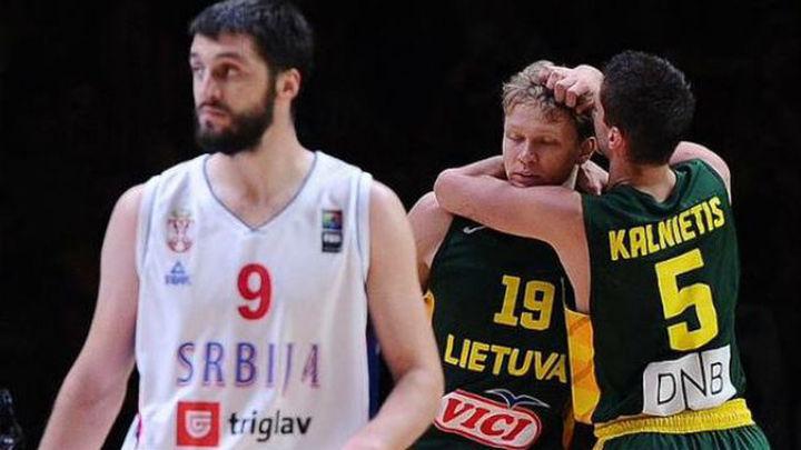 64-67. Lituania venció a Serbia y será el rival de España