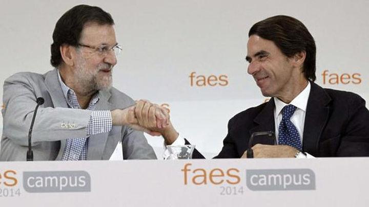 """Aznar: """"Ya va el quinto aviso y no se puede desoír"""""""