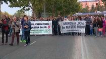 Vecinos de Villaverde y Usera se manifiestan contra la construcción de un crematorio