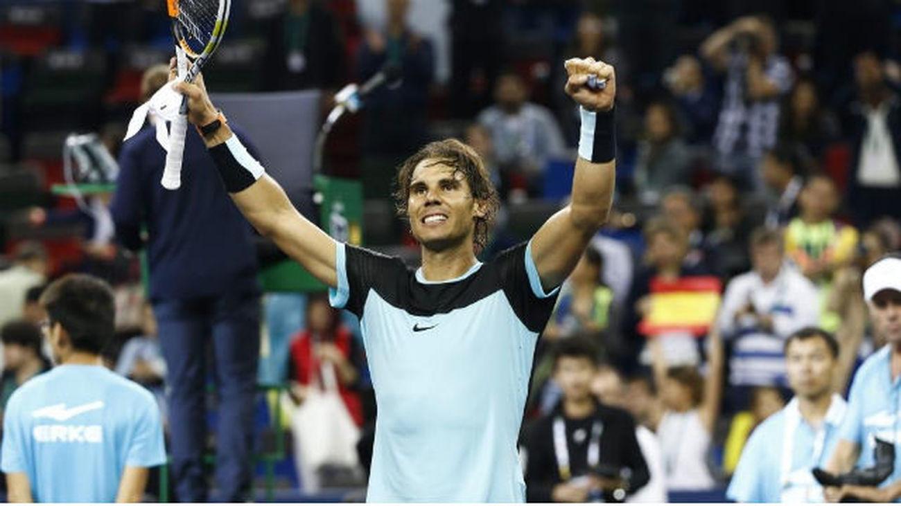 Shanghái: Nadal 'barre' a Wawrinka y jugará las semifinales