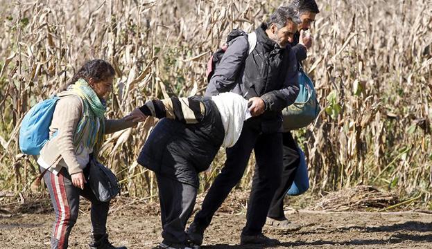 Ola de refugiados en la frontera entre Croacia y Eslovenia