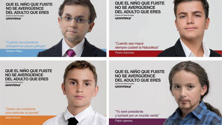 Los políticos, de nuevo niños de la mano de Greenpeace, por el medio ambiente