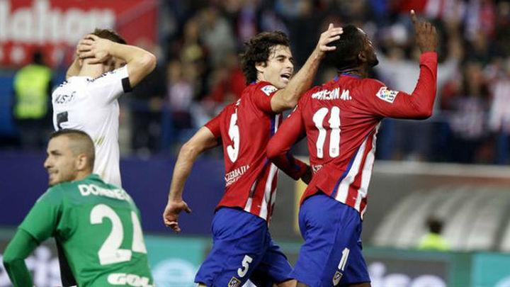 2-1. El fútbol del Atlético, Carrasco y Jackson desbordan al Valencia