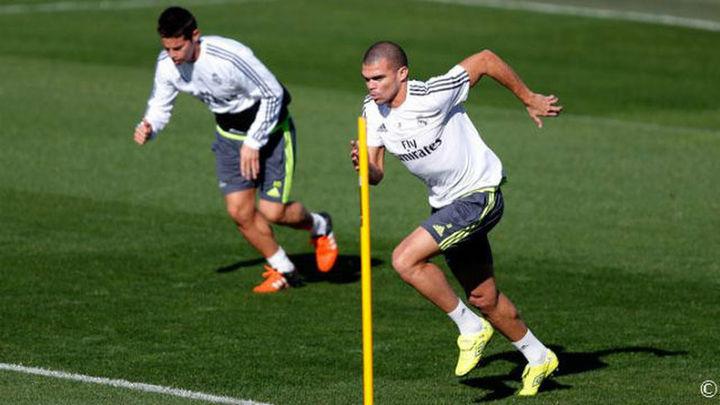 James, Benzema, Pepe y Arbeloa ya hacen trabajo de campo