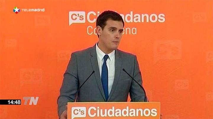 Rivera confía en que Constitucional paralice la moción sobre la independencia de Cataluña