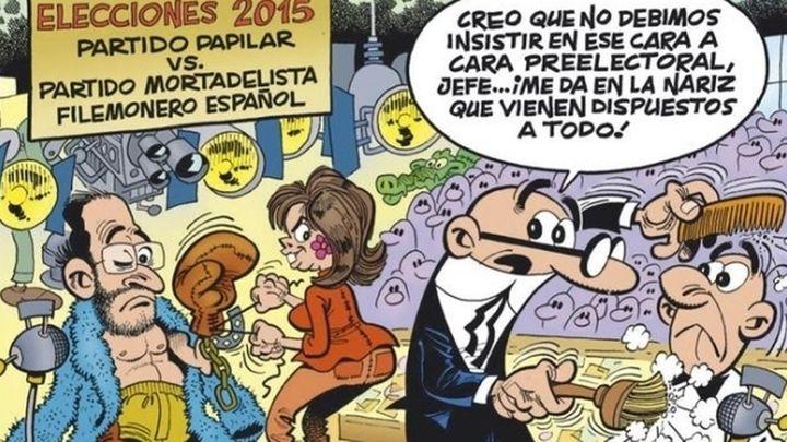 Ibáñez sitúa a Mortadelo y Filemón como candidatos en unas elecciones en su nueva entrega