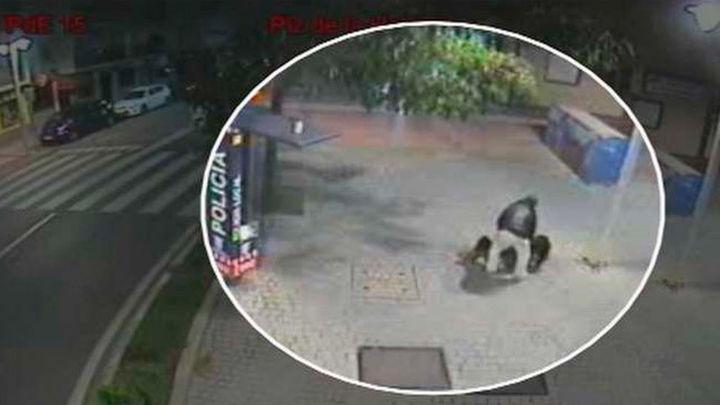 Una cámara conectada a la policía de Torrejón graba el intento de agresión a una mujer