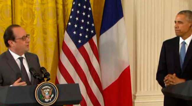 Hollande se reúne con Obama