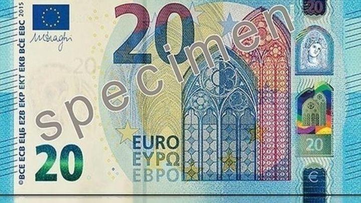 El nuevo billete de 20 euros entra en circulación este miércoles