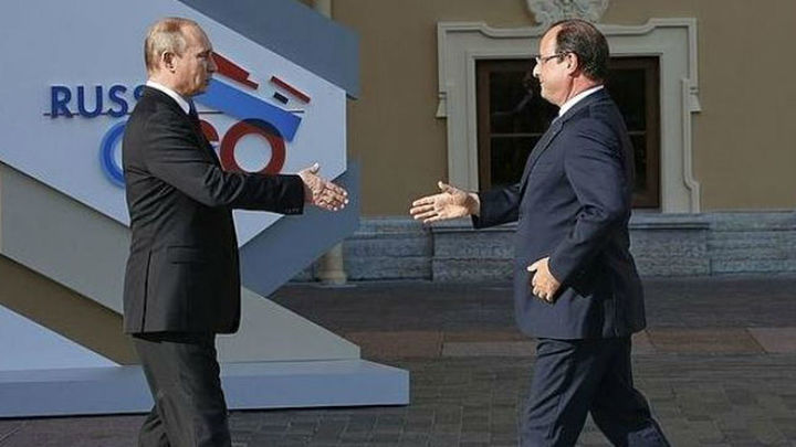 """Putin y Hollande abogan por crear una """"amplia coalición antiterrorista"""""""