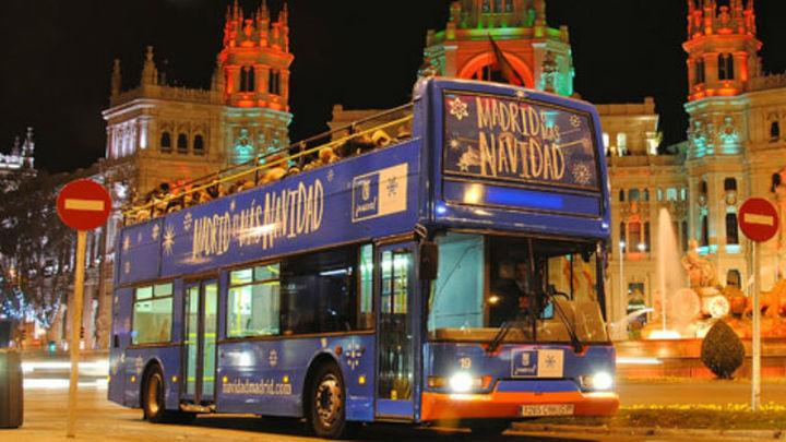 El 'Bus de la Navidad' recorrerá las calles iluminadas de Madrid desde el jueves