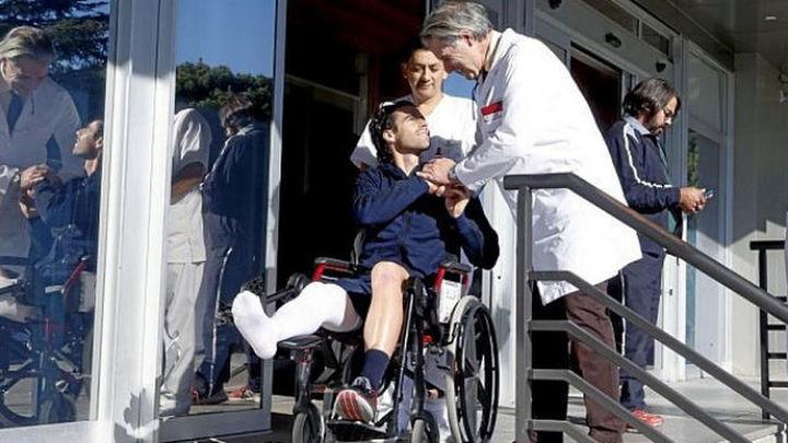 Tiago recibe el alta hospitalaria