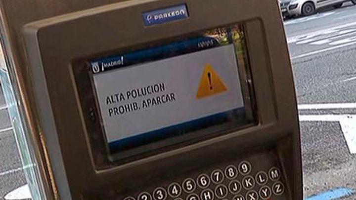 La contaminación se agrava e impedirá probablemente aparcar este miércoles en Madrid