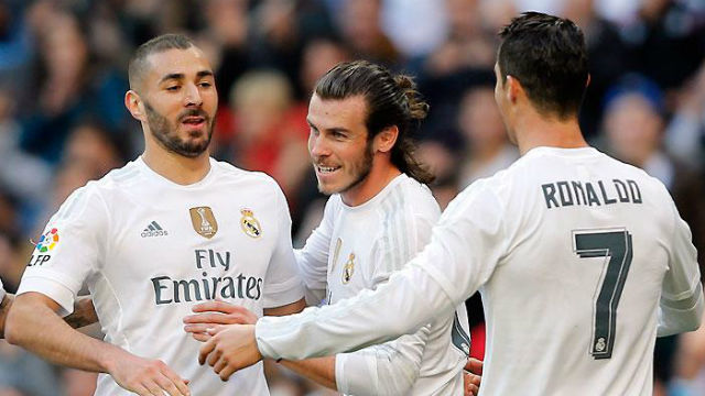 Benzema, Bale y Cristiano Ronaldo