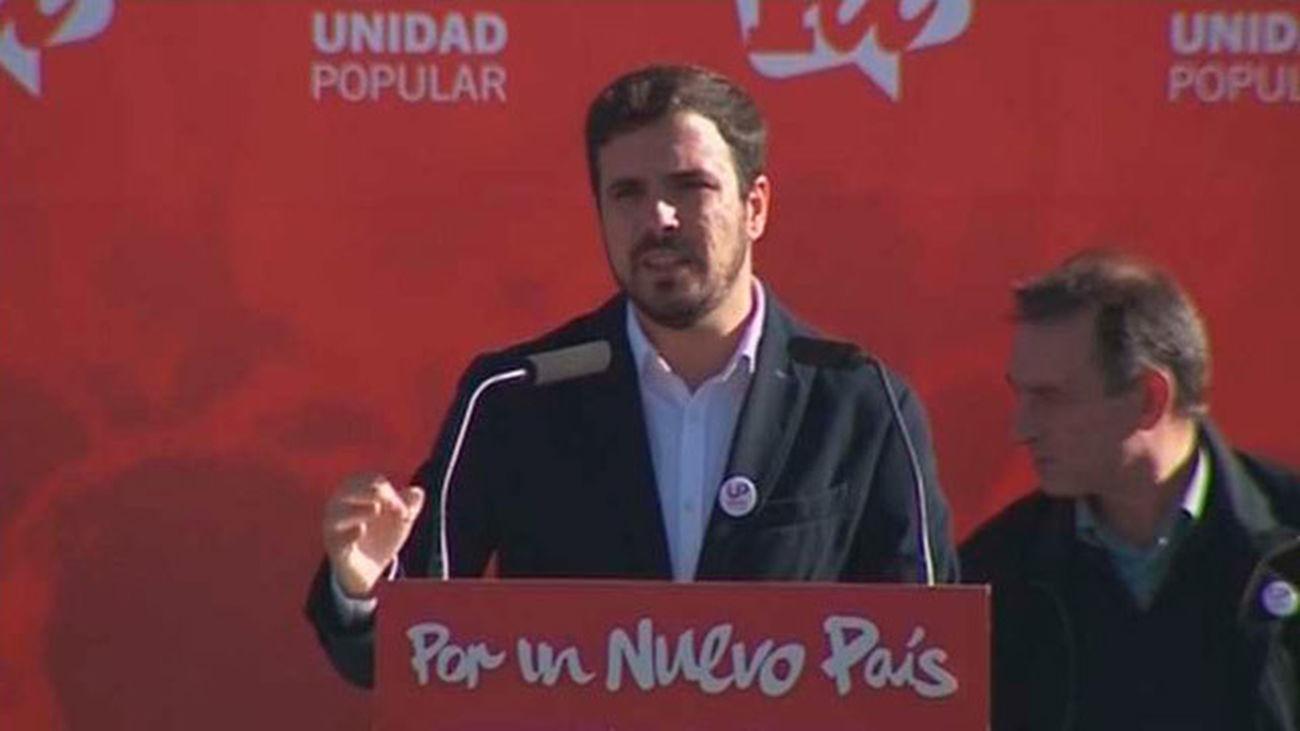 """Garzón rechaza""""reformas parciales"""" de la Constitución limitadas  a las """"élites"""" de los partidos"""