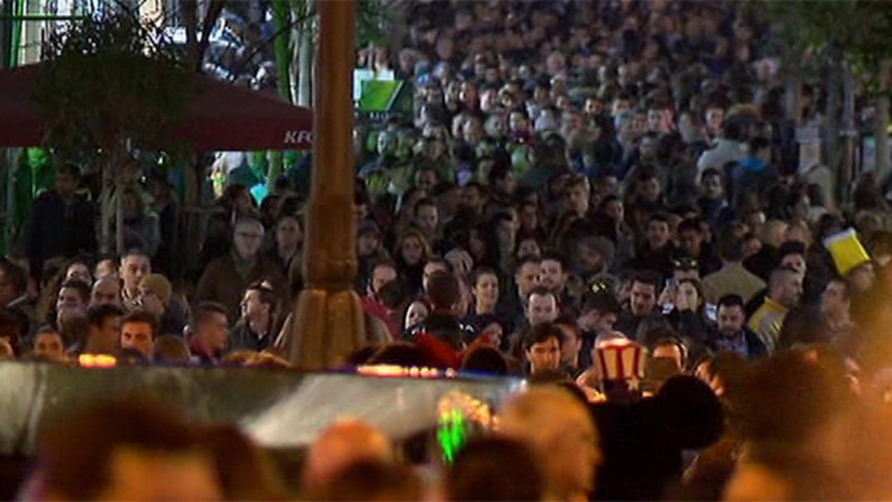Madrid llena de gente