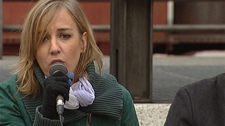 Tania Sánchez muestra el compromiso de Podemos de garantizar las pensiones