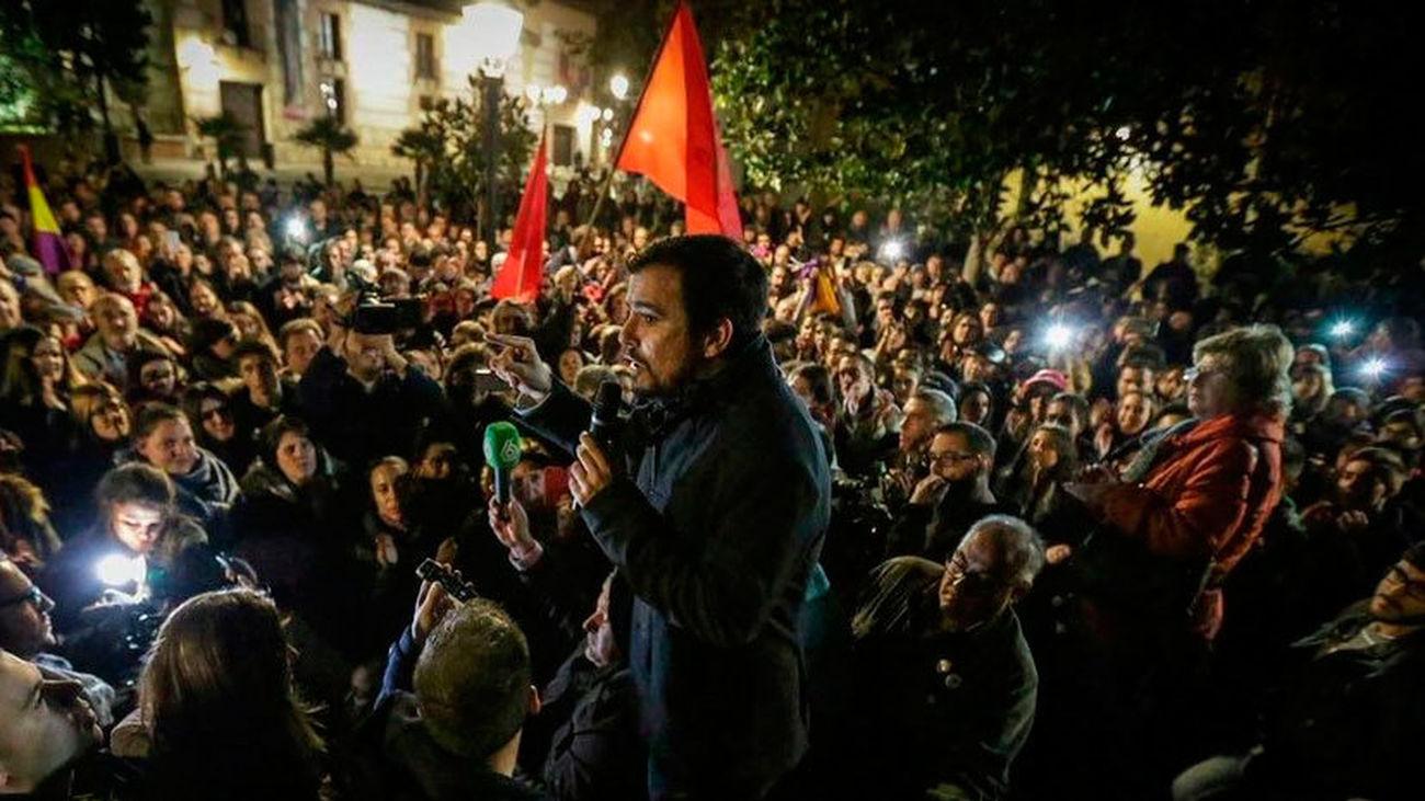 """Garzón llama a los indecisos al """"voto útil"""" con sus """"ideales y valores"""""""