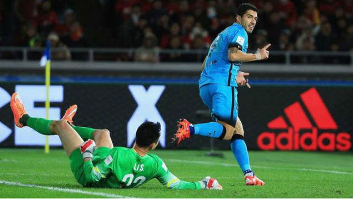 3-0. El Barça vence al Guangzhou con 'hat-trick' de Suárez y pasa a la final
