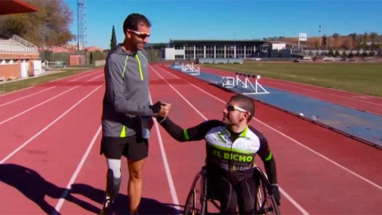 Dani Molina, triatleta paralímpico, aconseja a Álvaro