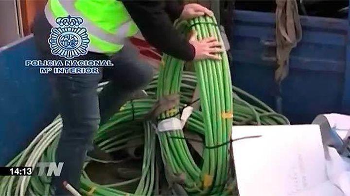 Golpe en Madrid y Valencia a dos bandas que robaban metales, con 13 detenidos
