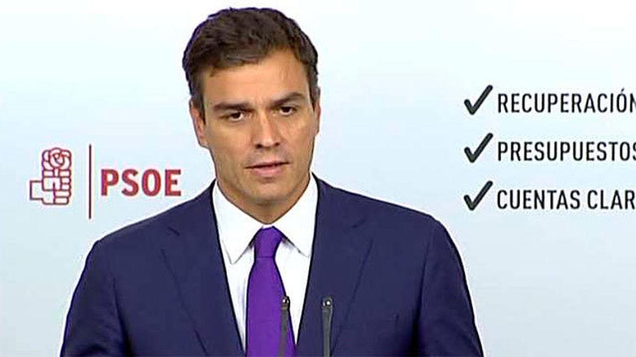 Cerca de 500 militantes del PSOE-M piden la dimisión de Pedro Sánchez