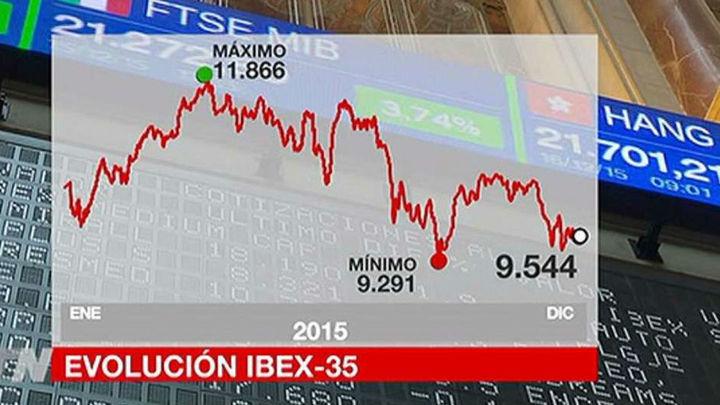 El Ibex pierde un 7,15% en el año y rompe con dos ejercicios al alza