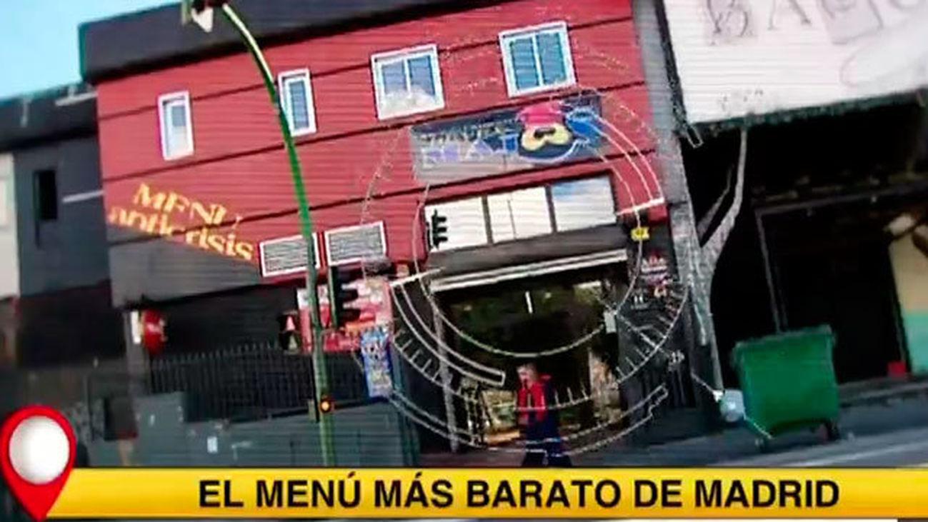 El menú más barato de Madrid