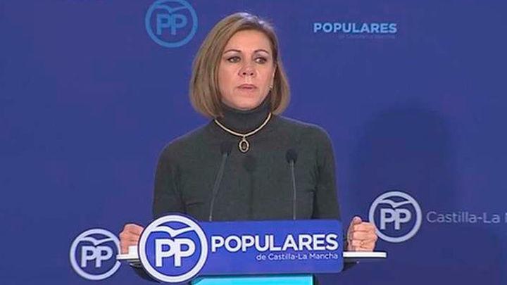 """Cospedal aboga por una """"segunda Transición"""" y rechaza el """"pacto a la contra"""" del PSOE"""