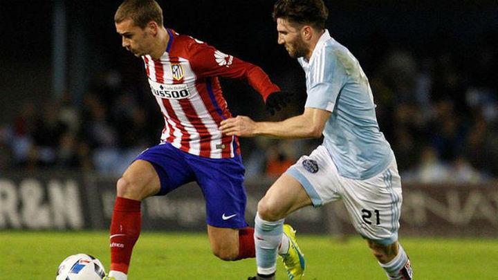 Atlético y Celta persiguen el gol y las semifinales de Copa
