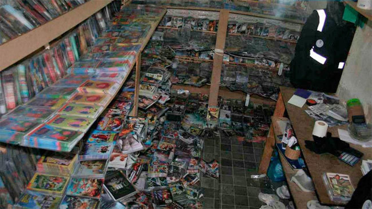 Tres detenidos en el centro de Madrid con 45.000 CD's y DVD's falsificados