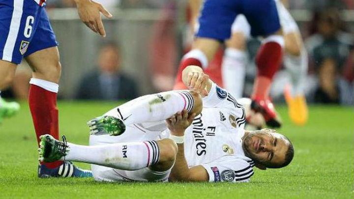 Benzema, tres semanas de baja