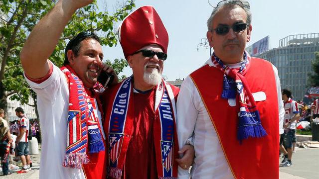 Aficionados del Atlético de Madrid