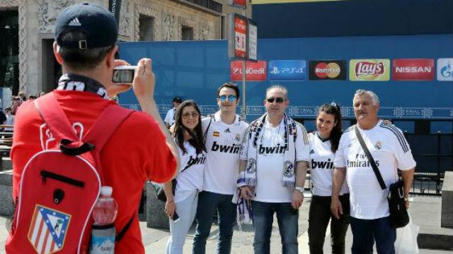 Aficionados del Real Madrid y At. Madrid