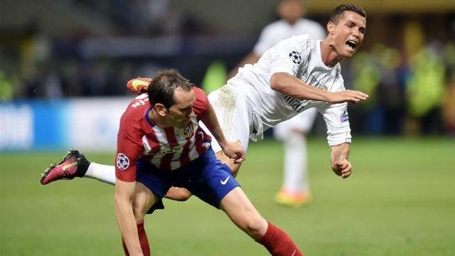 Godín y Cristiano Ronaldo