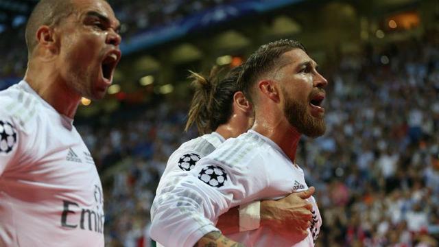 Pepe, Sergio Ramos y Bale