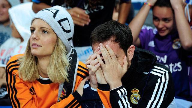 La afición del Real Madrid ha estado sufriendo