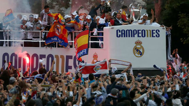 Real Madrid en Cibeles