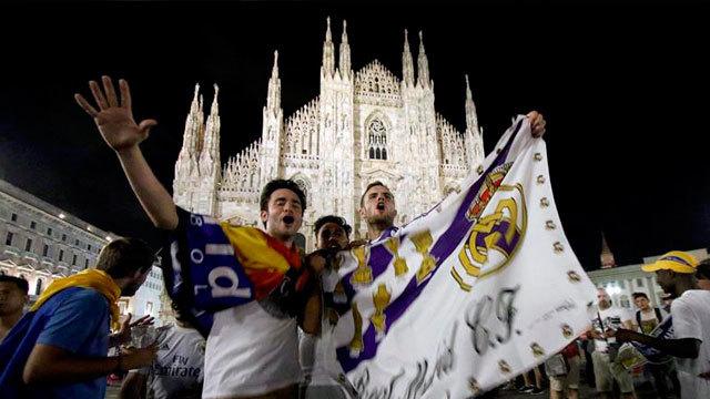 Las calles de Milán se tiñeron de blanco
