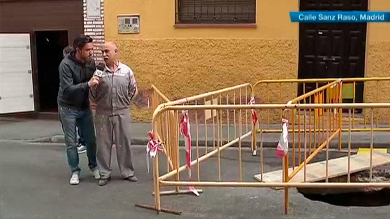Una calle de Vallecas, cortada durante dos meses por un socavón