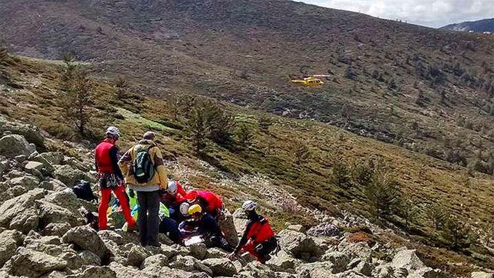 El GERA rescata a una mujer en la Fuenfría tras sufrir fractura en una pierna