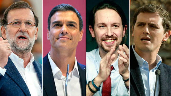 Rajoy, Sánchez, Iglesias y Rivera eligen Madrid para lanzarse a la campaña