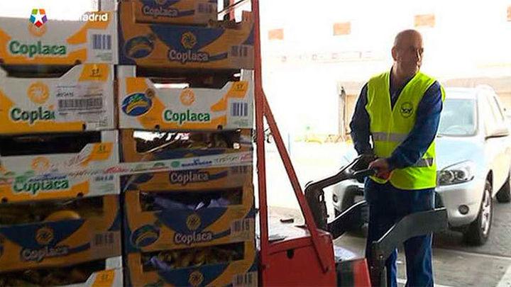 Comerciantes de Mercamadrid donan 19.000 kilos de fruta y verduras al Banco de Alimentos