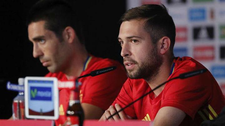 """Jordi Alba: """"Sergio Ramos es un espejo donde mirarse"""""""