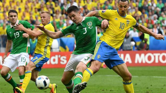 Suecia, 1 - Irlanda, 1