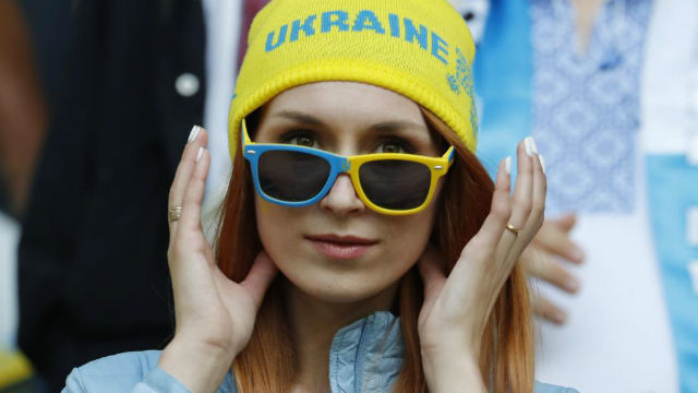Aficionada ucraniana
