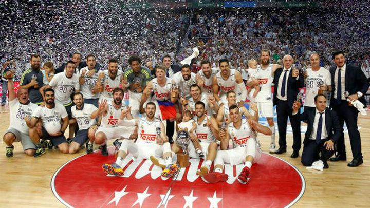 91-84. El Real Madrid gana su 33ª Liga de baloncesto